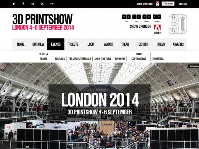 3DPRINTSHOW LONDON 9月4日より開催