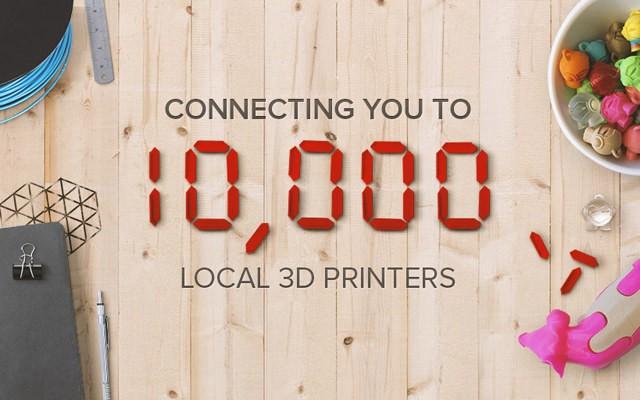 3D HUBは10000以上の3Dプリンタネットワークを構築