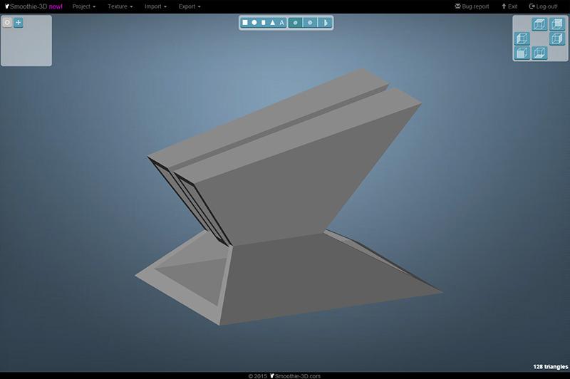 画像から3DモデリングするSmooth...