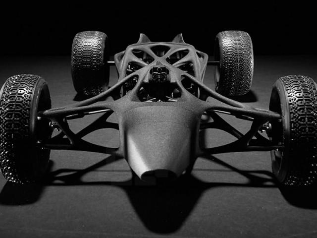 最高速48キロで走る輪ゴムパワーの3DプリントRCカー
