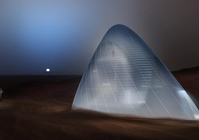 3Dプリント火星基地の模型を観にいこう