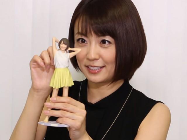 人気女子アナの3Dプリントフィギュア