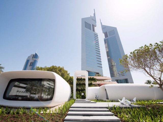 ドバイに建設中だった世界初の3Dプリントオフィスが完成