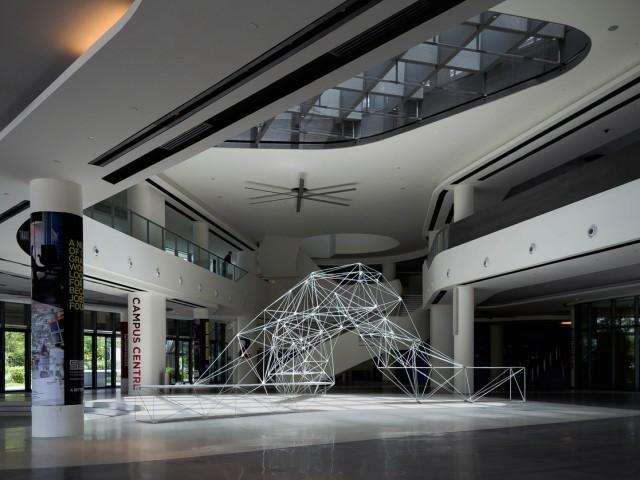 3Dプリントパーツで組上げたメッシュ構造建造物
