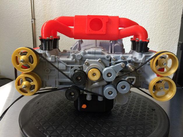 スバル水平対向4気筒エンジンを3Dプリンタで再現