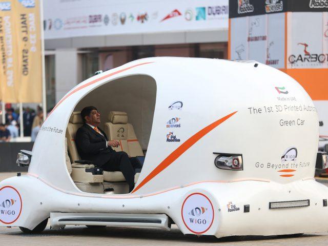 ドバイでお披露目された3Dプリント自律走行車