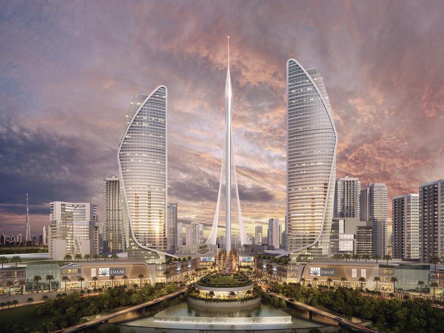 ドバイは10億ドル規模の投資を行い、現在世界一の高さを誇るブルジュ・ハリファ(全高828m)を上回る高さ928mの複合高層ビル「ドバイ・クリーク・タワー」を建設して